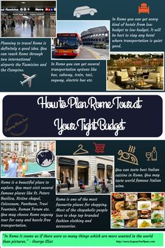 This infographic talks about how to plan Rome tour at your tight budget.