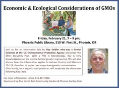 Phoenix, OR The Family Farms Coalition invite you to an informative talk by Dr. Ray Seidler. Ray worked as a Senior Scientist at the US Environmental Protection Agency and wrote the EPA's Biosafety Plan. With… Click flyer for more >>