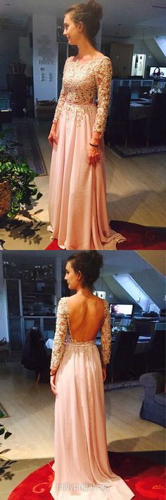 A-line Prom Dresses, Scoop Neck Chiffon Formal Dresses, Tulle Long Party Gowns, Sashes / Ribbons Modest Evening Dresses, Long Sleeve Women Dresses