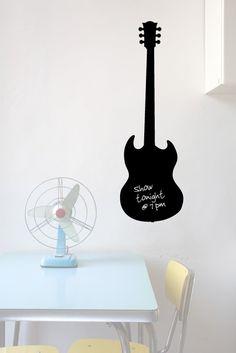 SG Guitar  Wall Chalkboard Vinyl Decal by SpellitOutdesigns, $23.00