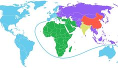 A Surprising Map of the World Shows Just How Big China's Population Is.  There are as many people in the PRC as there are in North and South America -- and Western Europe, Australia, and New Zealand -- combined.