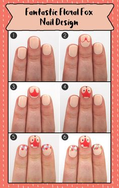 Fantastic Floral Fox Nail DesignTry this easy nail art tutorial featuring everyone's favorite woodland creature hiding amid a field of floral fingertips. What does the fox say? Super cute!http://www.divinecaroline.com/beauty/nails/fantastic-floral-fox-nail-designNo tools for recreating this nail art? The Clyppi Nail Art Brush Set has all the nailbrushes and tools you will ever need for your nail art designs! Go get them at http://amzn.com/B016YH0REG