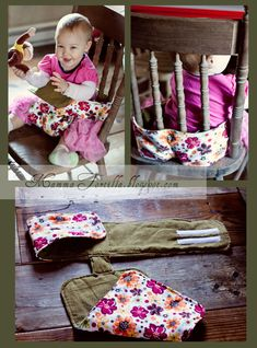Fabric Travel High Chair- pattern link http://thismamamakesstuff.com/tutorial-this-mamas-fab-travel-chair/