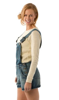 c6e154adf2c USKEES ANNA Supercute Relaxed Fit Vintage Wash Denim Dungaree Shorts.   Uskees  overalls