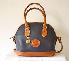 vintage Dooney & Bourke cross body bag speedy tote by bohemiennes
