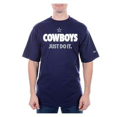 328ad5903 Dallas Cowboys Nike Just Do It 2 Tee. Dallas Cowboys Fragmented Short Sleeve  ...