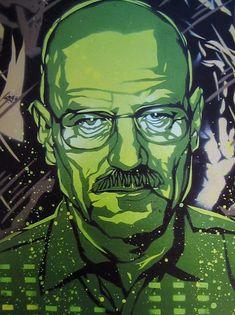 Breaking Bad Walter White Stencil Art Print by taylorlindgrenart, $20.00