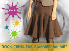 "Nähanleitung / E-Book Rock ""Endless Summer for ME"" von klecks MACS auf DaWanda.com"