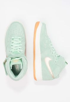 b5690d2298c8 AIR FORCE 1  07 MID SEASONAL - Baskets montantes - enamel green metalic gold  star sail light brown   ZALANDO.FR 🛒. Chaussures Nike Sportswear ...