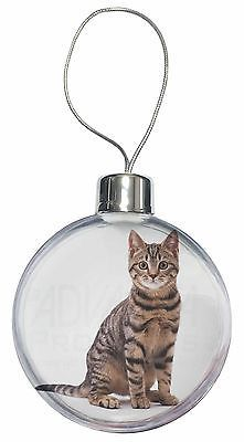 #Brown tabby cat christmas tree bauble #decoration #gift, ac-154cb,  View more on the LINK: http://www.zeppy.io/product/gb/2/191911415706/