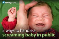You're scurrying about your errands with baby in tow, and the wailing begins. What are the best ways to deal with a crying baby without coming unglued?