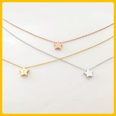 Same Day Shipping before 3 PM EST Cute Star Charm Necklace Flower Girl Necklace Initial necklace Junior Bridesmaid Gift for Kids Teens - Bridesmaid gifts (*Amazon Partner-Link)