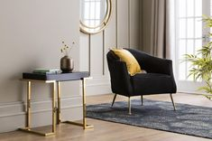The Lacey Velvet Armchair in Jet Black, for total wow-factor with uncompromising style and comfort. Available in four luxurious finishes, and with golden legs. Decor, Furniture, Room, Hall Chair, Living Room Style, Latest Interior Design Trends, Retro Interior, Armchair, Velvet Armchair