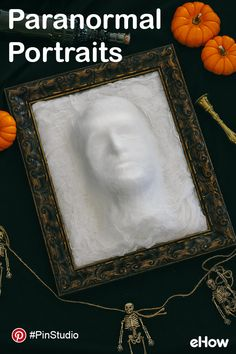 See these paranormal picture frames come to life with this easy Halloween DIY. #PinStudio Get the DIY instructions here: http://www.ehow.com/how_12340607_diy-ghost-face-picture-frame.html Get creative on Pinterest with eHow. For more: pinterest.com/ehow.