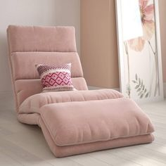 Burbank Wave Adjustable Memory Foam Lounger Pink - Room & Joy