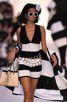 80s glam fashion tumblr | Chanel 1991 Model: Gail Elliott | 80's & 90's glam & decadence