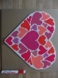 Heart hama beads by mohinderkebalam