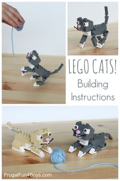 After we made LEGO dogs, it only seemed right to make some LEGO cats! (If you want to see the dog instructions, you can find them here:  LEGO Dogs) These cats are very posable, but the design is sturdy enough that they are not constantly coming apart – important for little hands! The white paws...Read More »