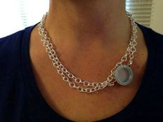 Just seen this look! What an elegant way to wear the Over-the-heart chain & link locket. I Love it!!! :)