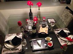 Mesa linda para um brinde romântico, com produtos da MiLuz artes & mimos!