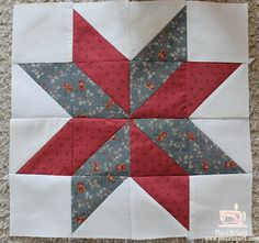 Piece N Quilt: Star Quilt {LeMoyne Star} This is one of my favorite star blocks. Piece N Quilt: Star Quilt {LeMoyne Star} From your background fabric you will cut 3 squares. From your background print, red print and blue print you will cut from each 4 - 3 Star Quilt Blocks, Star Quilt Patterns, Star Quilts, Pattern Blocks, Beginner Quilt Patterns, Block Quilt, Patchwork Patterns, Quilting Tutorials, Quilting Projects