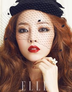 Goo Hara. I need to find out what those hats are called so I can get one and wear it always.