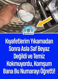 My clothes were never pure white after washing and didn& smell clean, my neighbor taught me this number! Turkish Kitchen, Diy Home Accessories, Tips & Tricks, Natural Cleaners, Kids Health, Home Hacks, Pure White, Clean House, Good To Know
