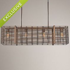 Downtown Mesh Linear Suspension by Hammerton Studio