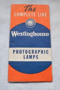 Vintage Westinghouse Photographic Bulb Lamps Paper Advertising Sales Brochure #Westinghouse
