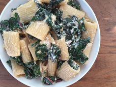 Rigatoni with Swiss Chard & Ricotta