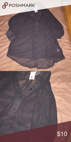 Women's black blouse. Open in the sleeve. Brand new with tags  Women's black blouse. Open in the sleeve.  Large Tops Blouses