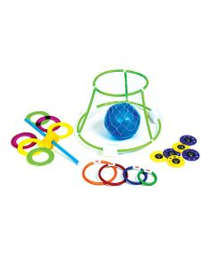 Dunk baskets, dive for discs and play ring toss in the pool with this sweet set of games! It's sure to have the whole family engaged in active, outdoor fun for hours.