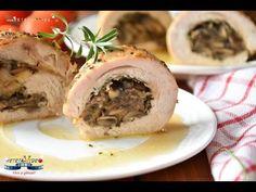 Piept de Curcan Umplut cu Ciuperci si Cascaval - YouTube Cheesesteak, Mashed Potatoes, Bacon, Picnic, Meat, Chicken, Ethnic Recipes, Whipped Potatoes, Smash Potatoes