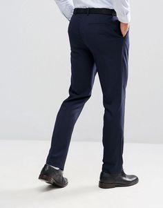 ASOS Slim Suit Pants In Navy - Navy