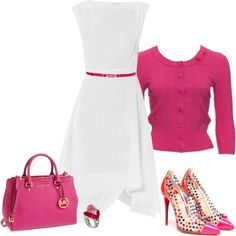 A little dangerous for me to be wearing white, but this would be a great Easter outfit