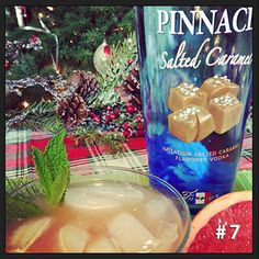 # 6 is the Pinnacle® Greyhound 1 part  Pinnacle® Salted Caramel Vodka 2 parts Grapefruit Juice Mix in a glass with ice.