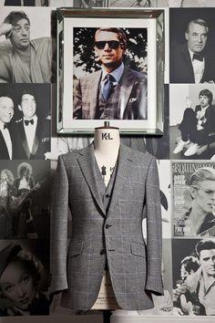 Steve McQueen, Thomas Crown Affair suit, Thom Sweeney tailors.