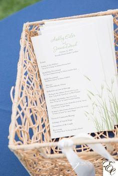 Wedding Program | Stationary | Blue wedding | Designed by Engaging Events