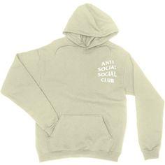 Anti Social Social Club Hoodie, Social Social Club, Anti Social Social... ($25) ❤ liked on Polyvore featuring tops, hoodies, sweater pullover, hooded pullover sweatshirt, pullover hoodie, cotton hoodies and hooded sweatshirt