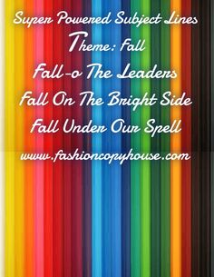 Check out my new PixTeller design! :: Super powered subject lines theme: fall fall-o the leaders f...