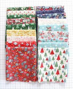 Christmas prints in quilter's cottons from Liberty of London Fall Projects, Sewing Projects, Sewing Patterns Free, Quilt Patterns, Liberty Of London Fabric, Star Quilt Blocks, Fall Quilts, My Sewing Room, Christmas Sewing