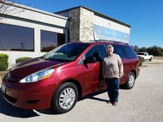 CHARLA's new 2009 TOYOTA  SIENNA! Congratulations and best wishes from Benny Boyd Motor Company - Marble Falls and DEE NIXON.