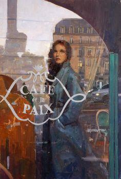 'The Sgnal, Paris' - new oil painting by UK artist Douglas Gray. #paris #art #painting www.douglasgray.co.uk