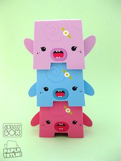 Paper Totem <3 Downloadable paper patterns for little Totems !