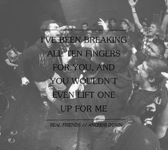 lyrics to pop punk bands | quote Black and White lyrics Awesome edit pop punk real friends Band ...