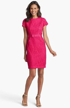 Taylor Dresses Floral Lace Sheath Dress (Regular & Petite) available at #Nordstrom