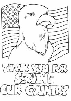 Veterans Day Coloring Pages Hold the flag proudly Coloring Page