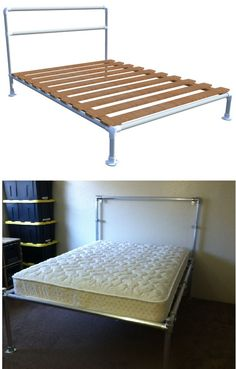 how to build a pipe bed httpcdnsimplifiedbuildingcom - Diy Pipe Bed Frame