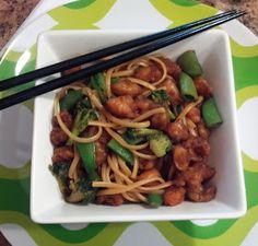 Rebecca's Amazing Creations: Teriyaki Shrimp with Pasta