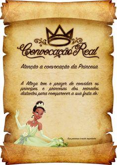 Convite Pergaminho Princesa e o Sapo